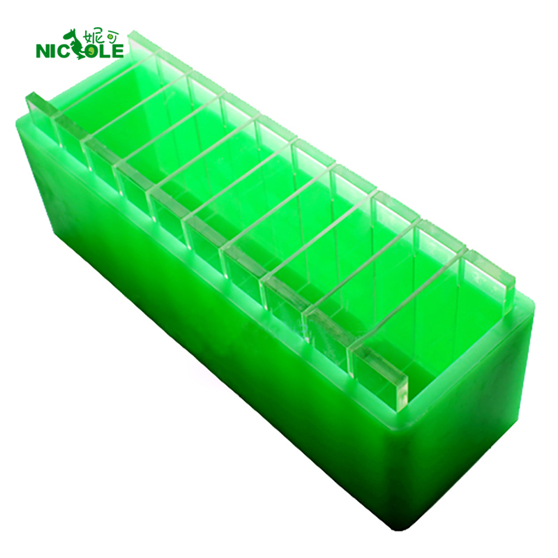 Nicole Silicone Loaf Soap Mold with Vertical and Crosswise Dividers for Handmade Render Soaps Mould