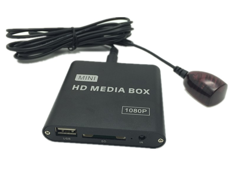 16GB Car Media Player with IR Extender Full HD 1080P AVI DivX MKV DVD MP3 Player HDMI,AV output,SD/MMC/USB Host,Free Car adapter new arrival jedx mp026 multimedia mini hdmi 1080p full hd media player mkv rm sd usb sdhc mmc with 2ports hdmi vga av auto play