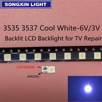 50-100 Uds. Original para LG LED 2W 6 V/1 W 3V 3535 blanco frío iluminación LCD trasera para TV