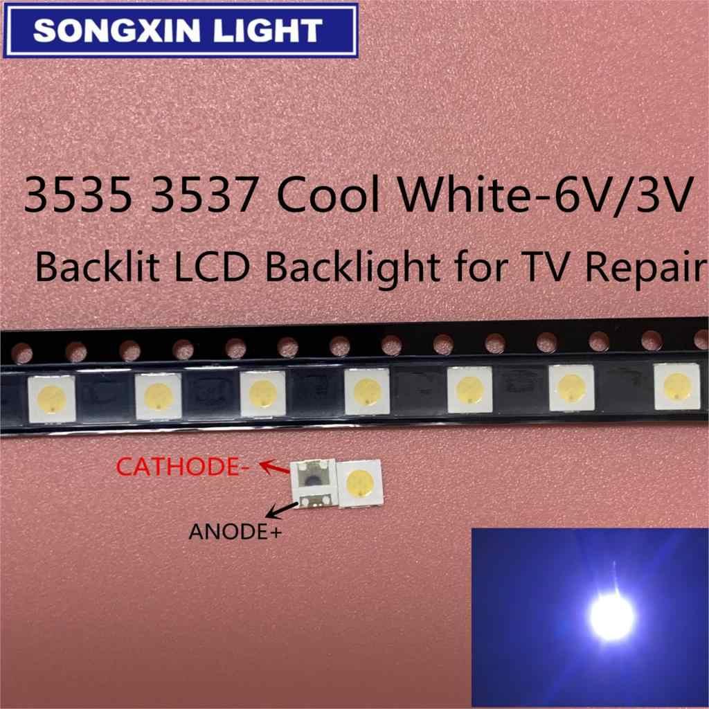 50-100 Buah Asli untuk LG LED LED 2W 6 V/1 W 3V 3535 Keren dingin Putih Lampu Latar LCD untuk TV