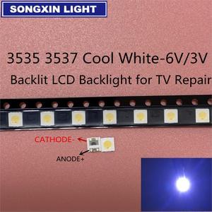 50-100pcs Original For LG LED LED 2W 6V / 1W 3V 3535 Cool cold white LCD Backlight for TV(China)