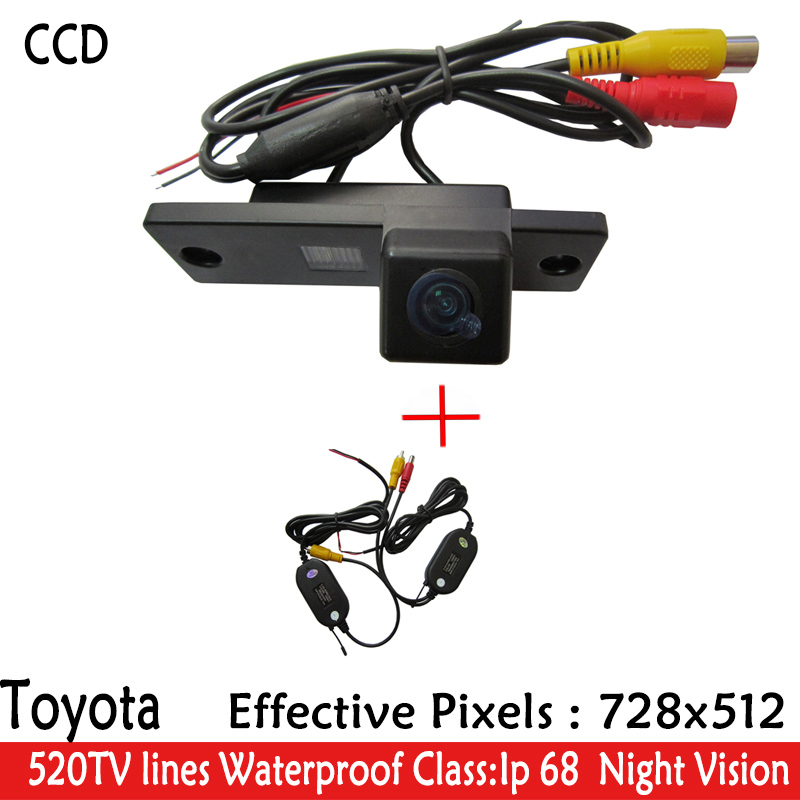 Wireless LED Night Vision waterproof SONY HD CCD Car Rear View Reverse Paking Camera for Toyota 4Runner Land Cruiser Prado