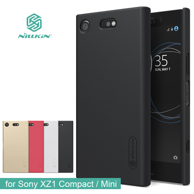 cheaper 82607 95731 US $7.19 9% OFF|for Sony Xperia XZ1 Compact Nillkin Super Frosted Shield  Hard Back PC Cover Case for Sony XZ1 Mini Phone Case + Protector film-in ...