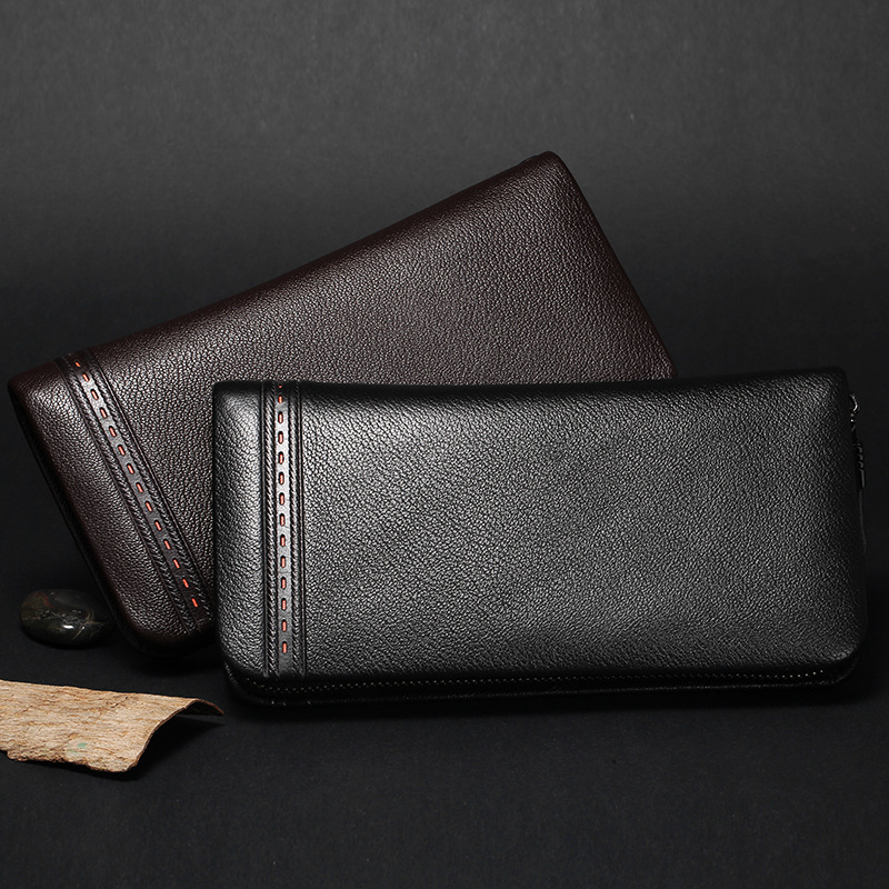 High capacity carteira High-end Clutch bag brand Men long wallet cow leather wallet 2017 new free shipping High capacity purse aliwilliam high end brand 2017 new men s