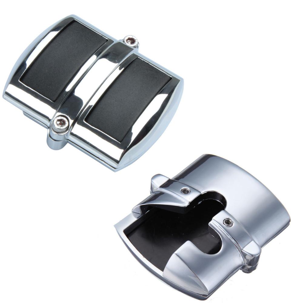Krator Chrome Brake Pedal//Heel Shift Pad Cover Rubber For Kawasaki Vulcan 900 Classic 2006-2013 Heel Shift