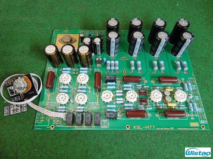 Carte d'amplificateur d'étape de Phono de Tube MM PCBA KONDO (AUDIONOTE) M77 Circuit préampli de Tube Compatible de vinyle LP sans Tube inclus