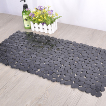 Shower-Mats Anti-Skid Foot-Pad Suction-Cup Kitchen Long PVC Bathroom Stone-Design Rectangle