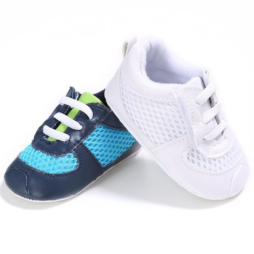 Baby Boy Girl Grid Lacing Shoes Sneaker Anti-slip Soft Sole Toddler Shoes Spring Autumn Winter 2017