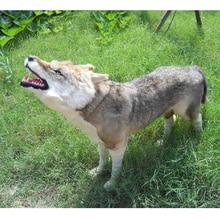 Simulation wolf polyethylene&furs wolf model funny gift about 90cmx75cm