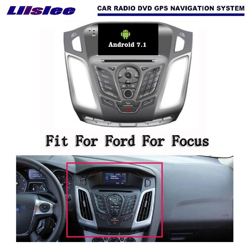 Liislee Android 7.1 2G RAM pour Ford pour Focus 2012 autoradio Audio vidéo multimédia lecteur DVD WIFI DVR GPS Navigation Navi