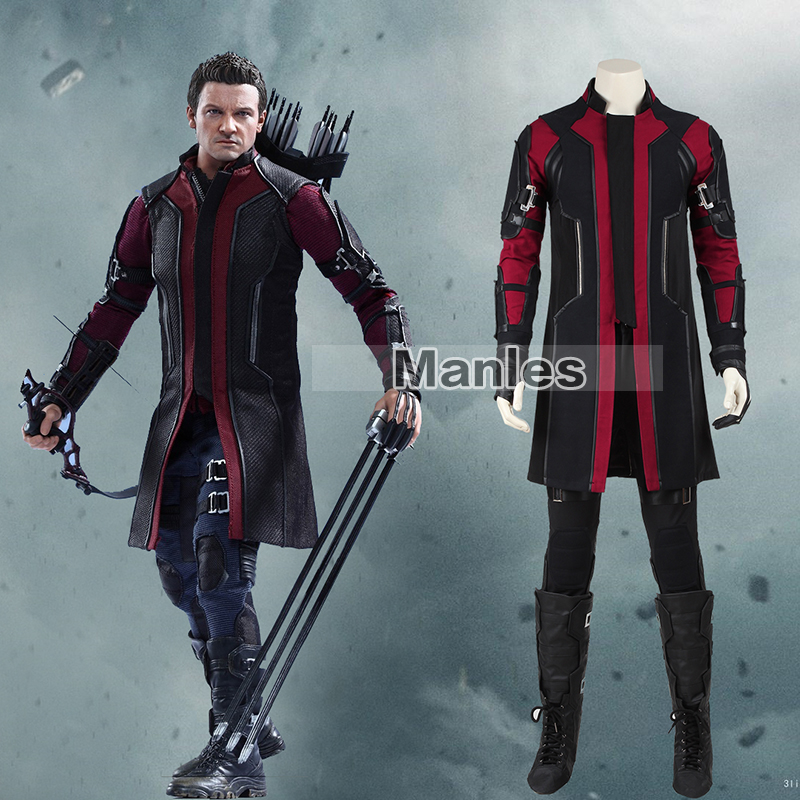 Movie The Avengers Hawkeye Cosplay Costume  Superhero Clinton Francis Barton Costume Halloween Costume for men