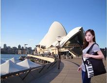 Fashion Black Piano Music Handbag