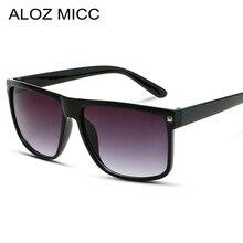 ALOZ MICC Vintage Oversize Sunglasses Men Brand Designer Square Sun Glasses Wome