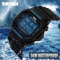 2017 nueva skmei marca de lujo de los hombres relojes deportivos militar impermeable fecha led digital de silicona reloj de los hombres reloj digital-reloj