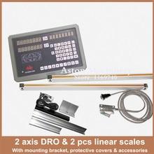Envío Gratis 2 ejes de lectura digital DRO para fresadora torno con alta precisión escala lineal/lineal encoder