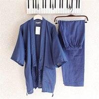 Cotton Yukata Japanese Kimono Traditional Japanese Men S Clothing Japanese Pajamas Men S Sleepwear Lounge Home