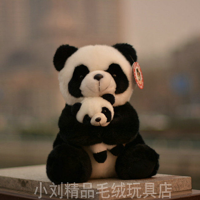 Mignon Jouet En Peluche Panda Mère Et Bébé Poupée Jouets Cadeaux Oreiller Enfants Poupées