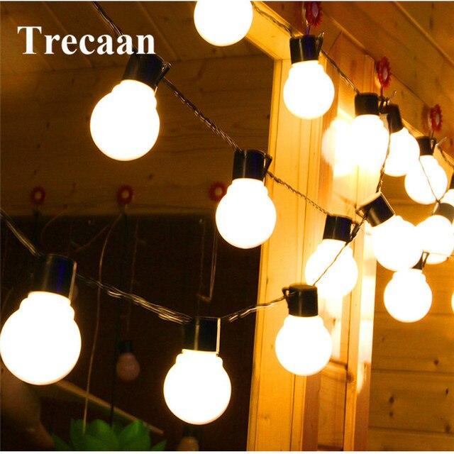 2 5m 10 Led Clear Globe Bulbs Solar String Fairy Light Outdoor