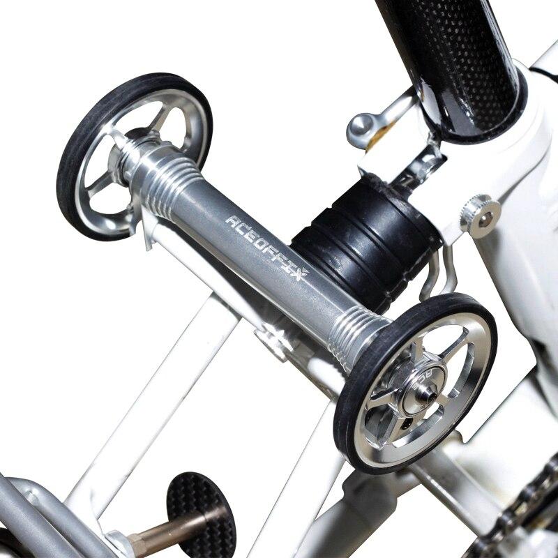AGEKUSL Extension de roue facile barre de levier télescopique pour Brompton vélo pliant vélo facile roue Rack bloc CNC Super léger 65g