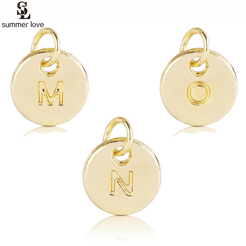 Rose Gold Plated Initial Letter O Clip On Charm Pendant Alphabet