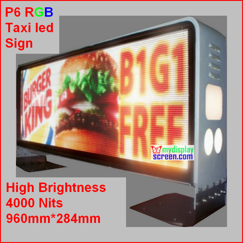 fullcolor outdoor taxi led screen,high clear,high brightness 5000 nits,960mm*384mm taxi sign,160*96 pixel,4g internet controllerfullcolor outdoor taxi led screen,high clear,high brightness 5000 nits,960mm*384mm taxi sign,160*96 pixel,4g internet controller