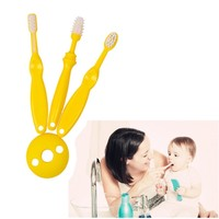 3pcs Set Silicone Teether Kids Training Toothbrushes Baby Different Stage Tooth Brush Children Newborn Infant Detal