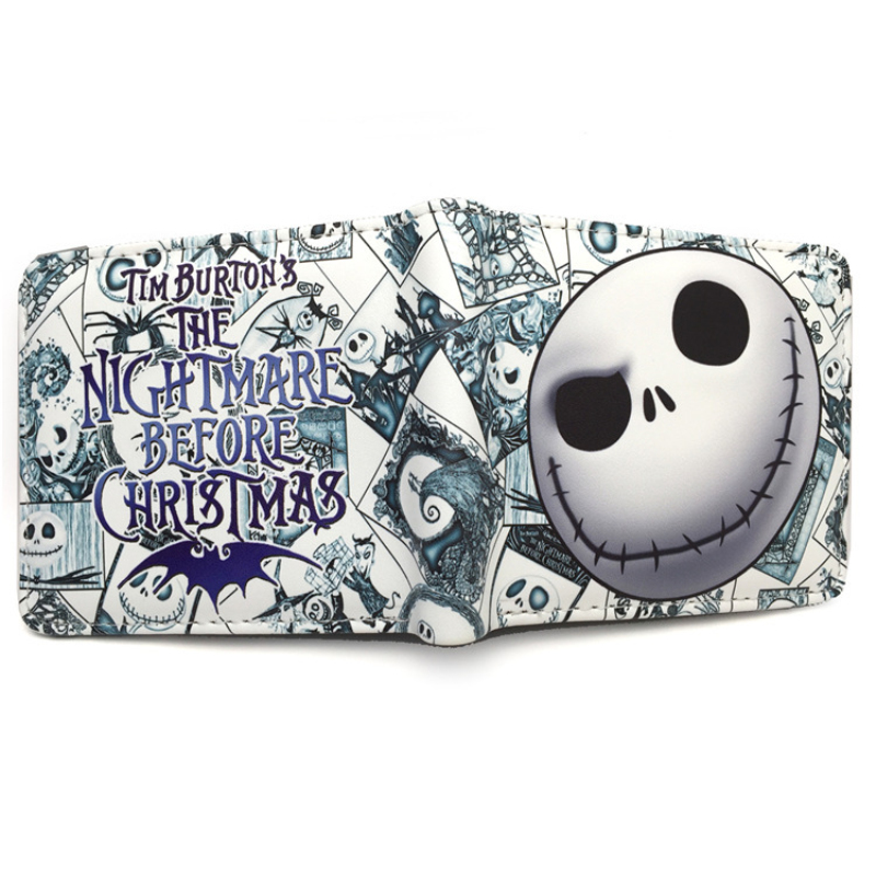bifold wallet  Jack Skellington pu wallets dollar price  man purse move wallets rick and morty purse bags the harry potter short wallets jack skellington man purse move wallet doctor who rick and morty cartoon kids cion purse