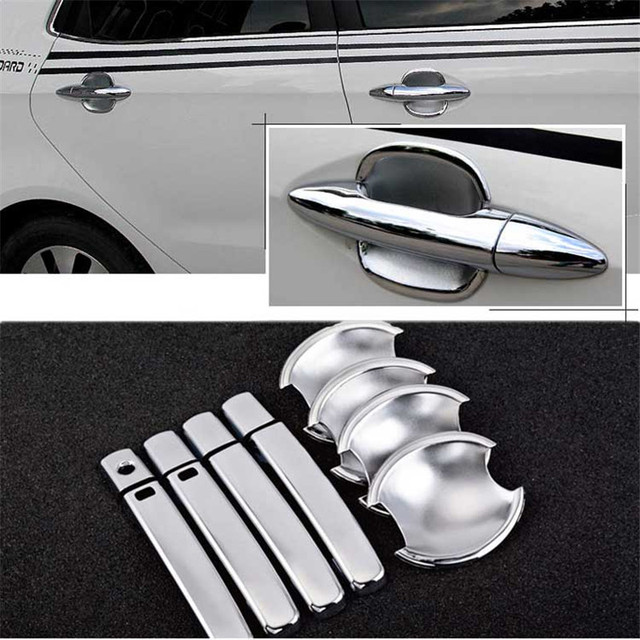 $ 20.99 Non-Rusty Chrome Door Handle Bowl Cover Cup Overlay Trim For Kia K2
