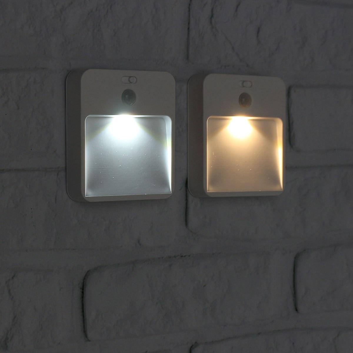 Warm White Lighting Solar Power Charging LED Infrared Body Motion Sensor Night Light Corridor Hallway Wall Mounted Lamp 1x led night light lamps motion sensor nightlight pir intelligent led human body motion induction lamp energy saving lighting