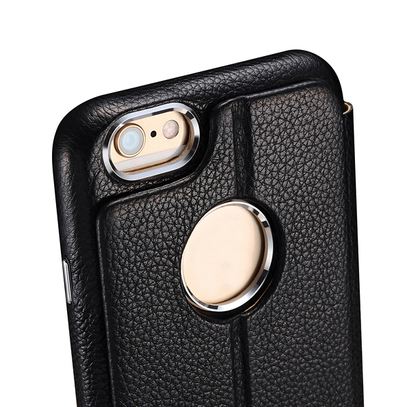 ICARER affärsstil Retro äkta Litchi mönster läder kort plånbok - Reservdelar och tillbehör för mobiltelefoner - Foto 4