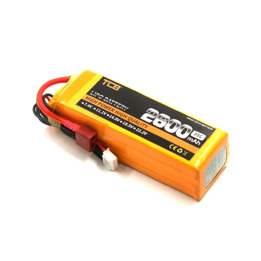 TCB RC ड्रोन लिपो बैटरी 14.8v 2600mAh 35C - रिमोट कंट्रोल के साथ खिलौने