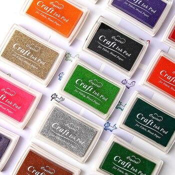 15 colors Ink Pad Scrapbooking Colorful Inkpad Stamp Sealing Decoration Fingerprint Stencil Card Making DIY Crafts