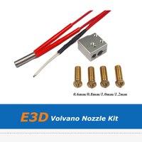 3D Reprap impresora E3D rápido Volvano imprimir Kit 0 6mm/0 8mm/1 0mm/boquilla de 1 2mm