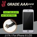 10 pçs/lote 100% sem dead pixel para iphone 6 display lcd Substituição da Tela de toque 4.7 Digitador Assembléia Preto ou Branco livre DHL