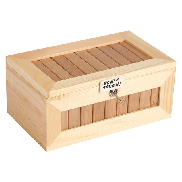 Wooden Storage Boxes USB Electronic Box Cute Tiger Funny Interactive Stress  Relief Toy Storage Box For