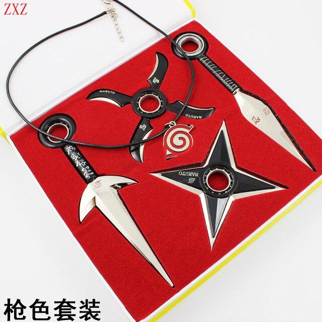 Naruto shuriken Cosplay Ninja Weapon Set With Box