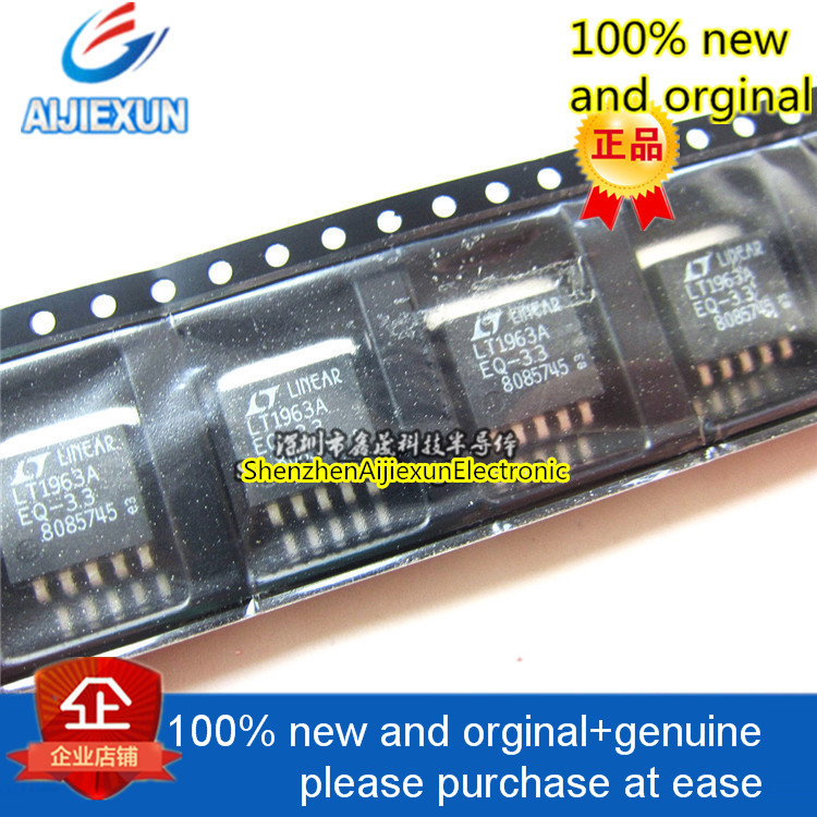 5ocs 100% new and orginal <font><b>LT1963AEQ</b></font>-3.3 LINEAR TO-263 1.5A, Low Noise, Fast Transient Response LDO Regu 3.3V 1.5A in stock image