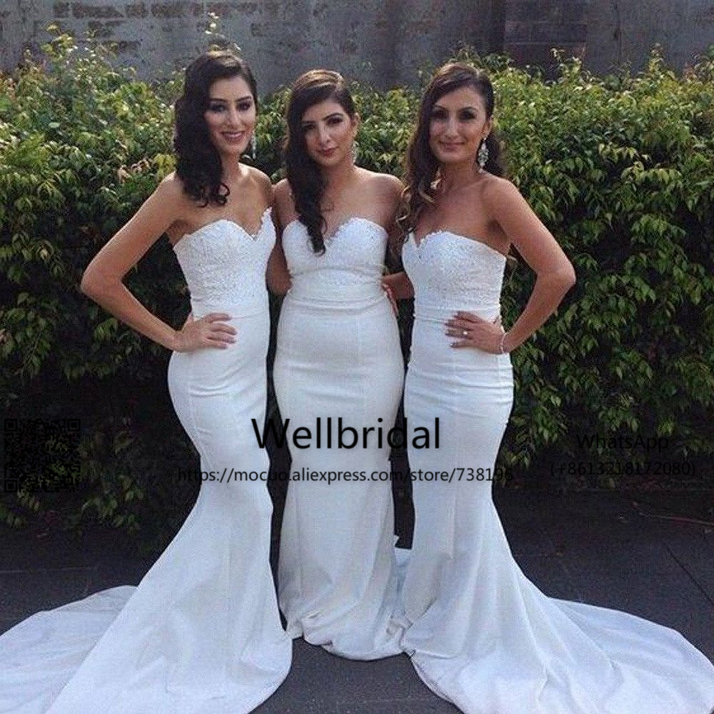 2017 Gorgeous Mermaid   Bridesmaid     Dress   Lace Off shoulder Beaded Wedding Party   Dress   Maid oh Honor   Bridesmaid     Dresses   long