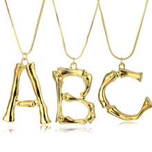 17IF Fashion A-Z Letter initial Necklace Hyperbole Big English Alphabet Pendant Gold Chain Pendants Necklaces For Women Jewelry a z fashion personalized capital letter corrugated shape alphabet pendant necklace gold color chain initial necklaces for women