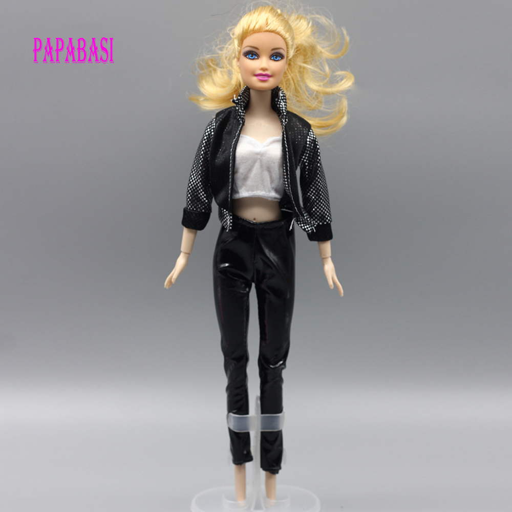 1set Coat+vest+trousers For Barbie Doll Lifestyle Suit Windbreaker Clothes Trousers Pajamas Eg020