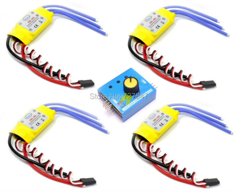 30A XXD Brushless Speed Controller RC ESC  + Multi Servo Tester 3CH ESC 4.8-6V CCPM Master Checker for F450 multicopter Frame xxd 4pcs a2212 1000kv brushless motor with 4pcs 30a esc for multicopter quadcopter