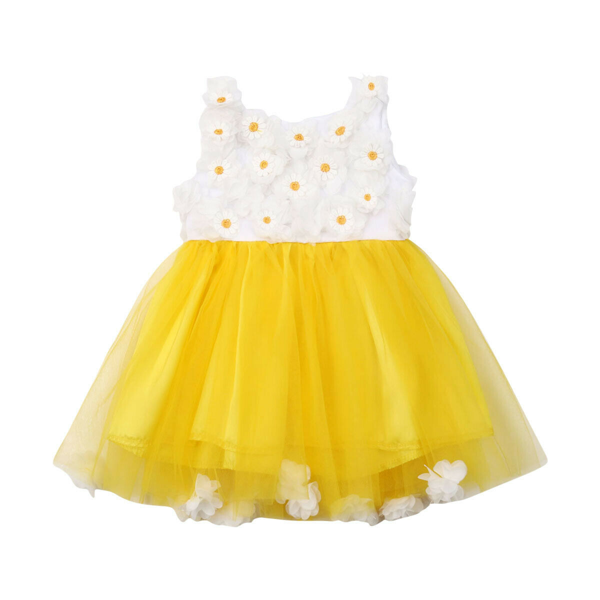 Summer Toddler Kids Baby Girls Dress Lace Tulle Party Bridesmaid Pageant Dresses