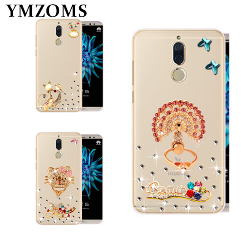 Luxury DIY Handmade Diamond Cover For Huawei Mate 10 Pro Lite Mate 9 Pro Y7 Prime 2018 R ...