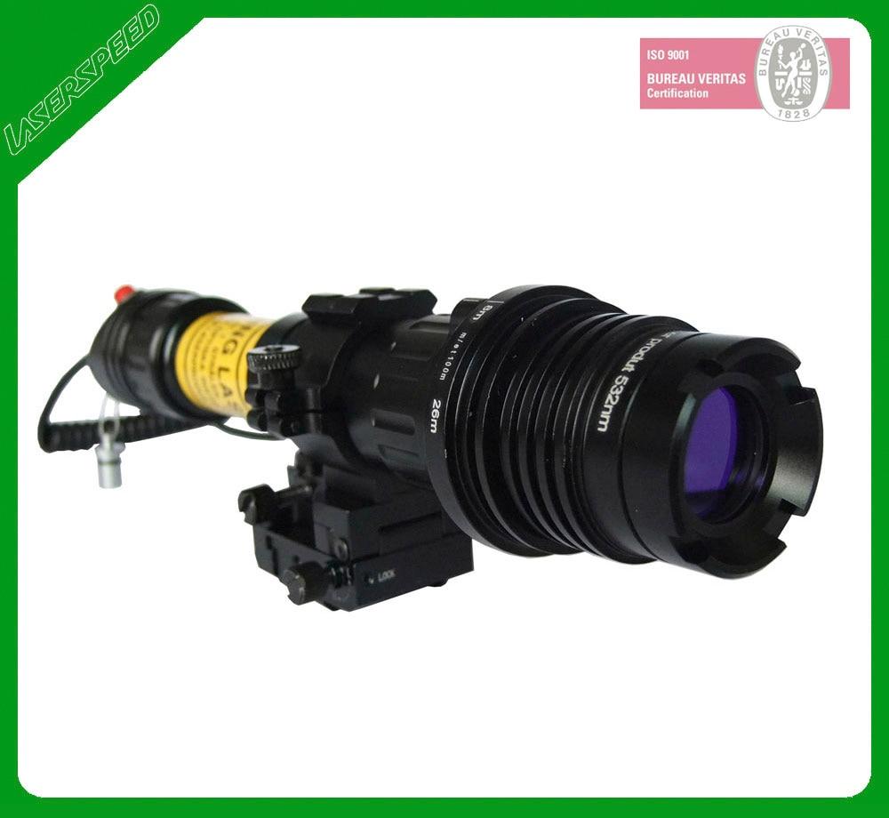 High power subzero zoomable beam adjustable 100mw green laser designator for hunting self defense