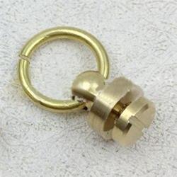 10 шт. латунная заклепка шпильки винт крепежа шпильки сзади круглое кольцо Кожа ремесло аксессуары DIY Высокое качество Прочный