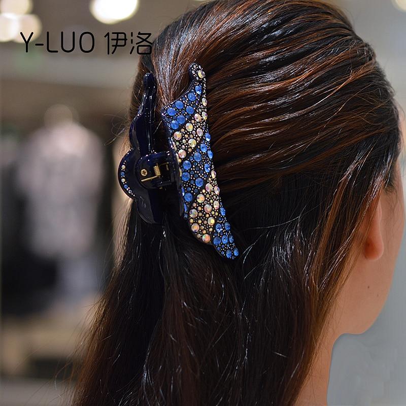 Women   headwear   luxury hair jewelry large hair claw crystal hair clip for girls rhinestone hair accessories for women