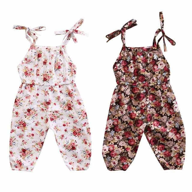 d7cf46d4dcdc Infant Toddlers Girl Floral Romper Jumpsuit Cotton Clothes Outfit Toddler  Adorable Baby Girl Summer Sleeveless Floral