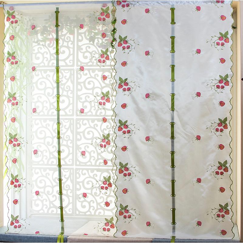 Fresa patrones de bordado cortina de la ventana cortinas para ...