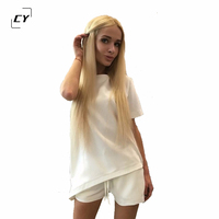 Casual Women Sets Clothes 2 Pieces Top T Shirt And Shorts Summer Women Sets Fashion Star