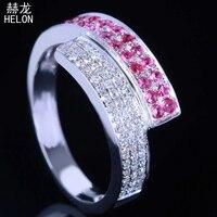 925 כסף סטרלינג מכירת פייב הגדרת ייחודי טבעת נישואים אירוסין יום נישואים יהלומים טבעיים & אבני אודם חן נד
